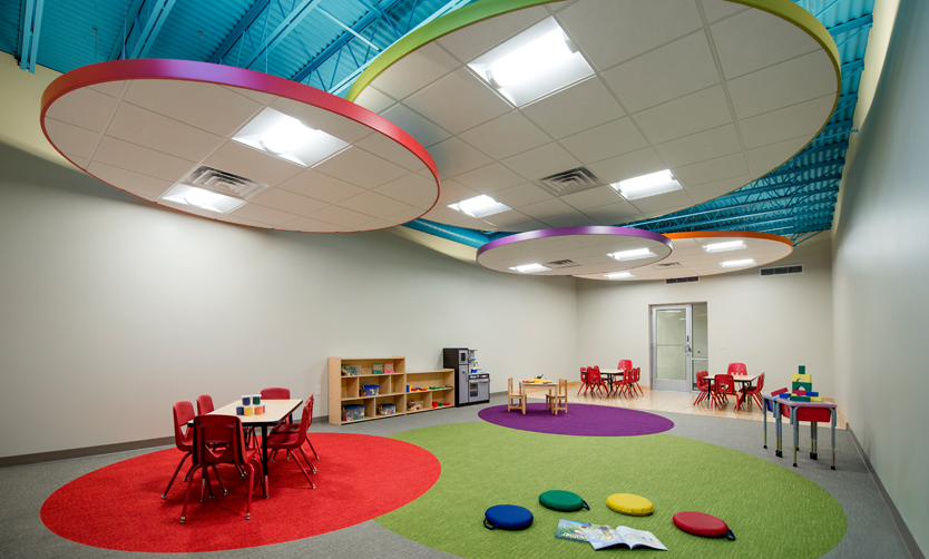 Woodson YMCA 4K Goes Back to School in a New Design Build Space by Ghidorzi