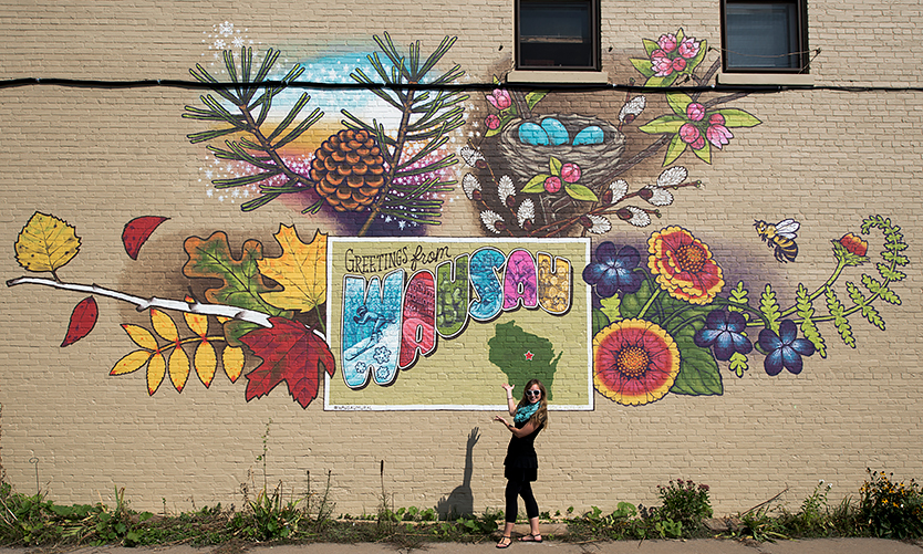 Central Wisconsin Tourism Inspires Wausau's First Building Mural