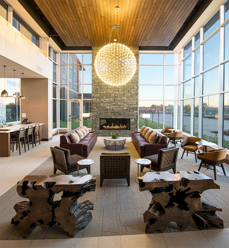Hilton Garden Inn Wausau Fireplace