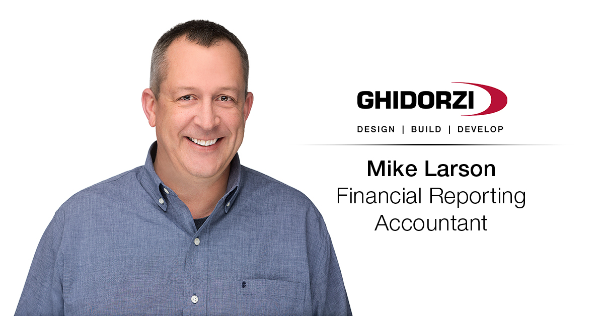 Ghidorzi Welcomes Mike Larson as Financial Reporting Accountant