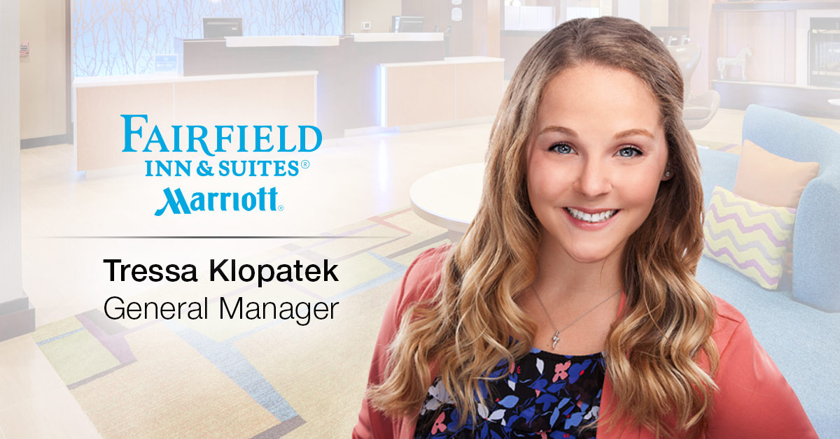 Ghidorzi Hotel Group Promotes Tressa Klopatek to General Manager of Fairfield Inn & Suites