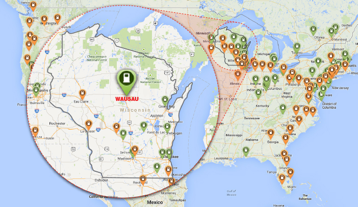 Tesla Charging Stations Map >> Tesla Charging Stations Map Wausau Detail1 Ghidorzi Construction