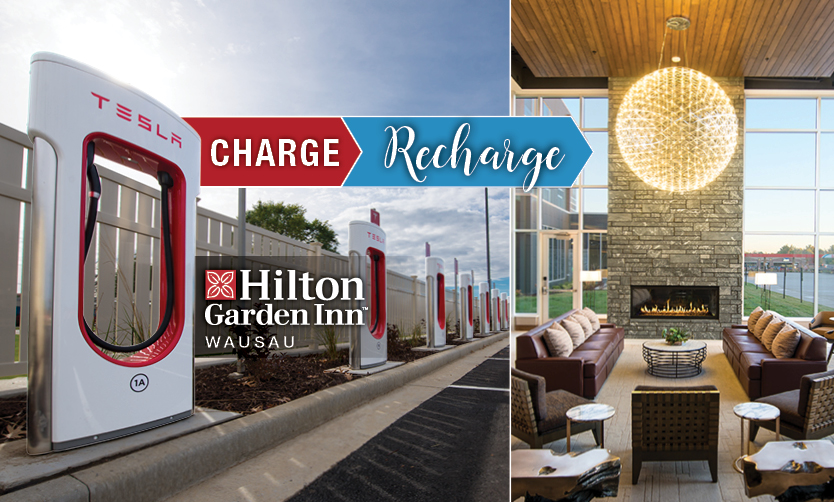 Hilton Garden Inn Wausau Welcomes Tesla Owners to Central Wisconsin's Largest Charging Destination