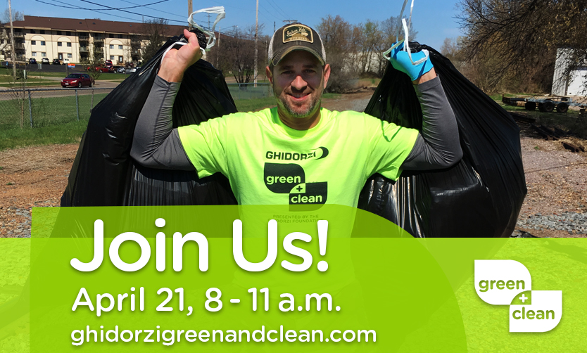 Rally Around Earth Day and Clean Up Greater Wausau at the Ghidorzi Green & Clean on April 21