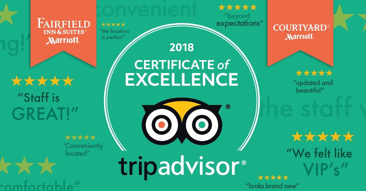 TripAdvisor Awards Ghidorzi Hotels with Certificate of Excellence for Outstanding Guest Reviews