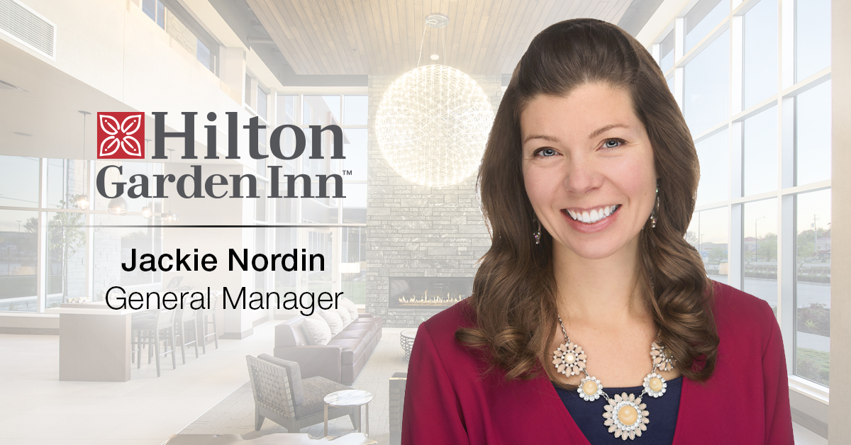 Ghidorzi Hotel Group Promotes Jackie Nordin to General Manager of the Hilton Garden Inn