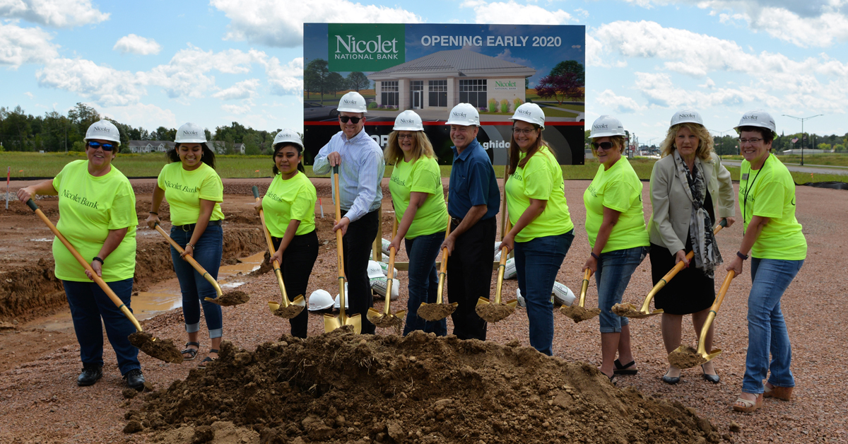 Nicolet National Bank Breaks Ground on New Branch in Colby with Ghidorzi serving as Architect and General Contractor