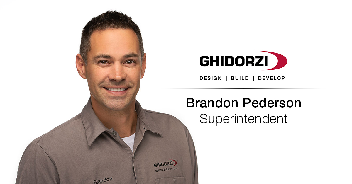 Brandon Pederson Joins the Ghidorzi Design Build Team as Superintendent