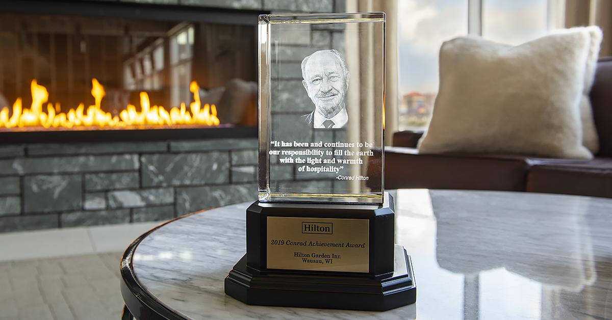 Ghidorzi Hotel Group's Hilton Garden Inn Wausau Wins Conrad Achievement Award from Hilton