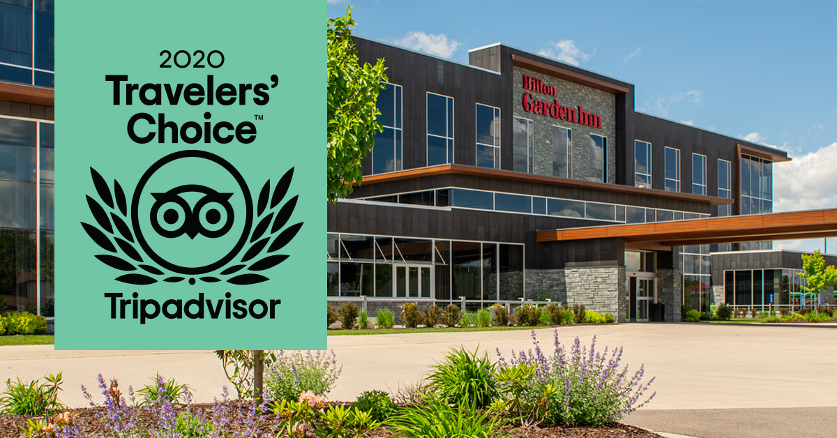 Hilton Garden Inn Wausau Earns 2020 Tripadvisor Travelers' Choice Award
