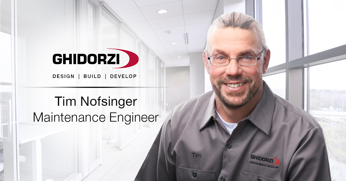 Tim Nofsinger Promoted to Maintenance Engineer for Ghidorzi Commercial Properties