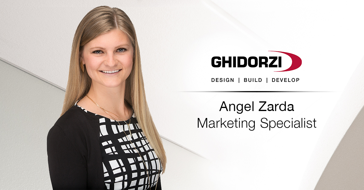 Angel Zarda Promoted to Marketing Specialist for Ghidorzi Design | Build | Develop