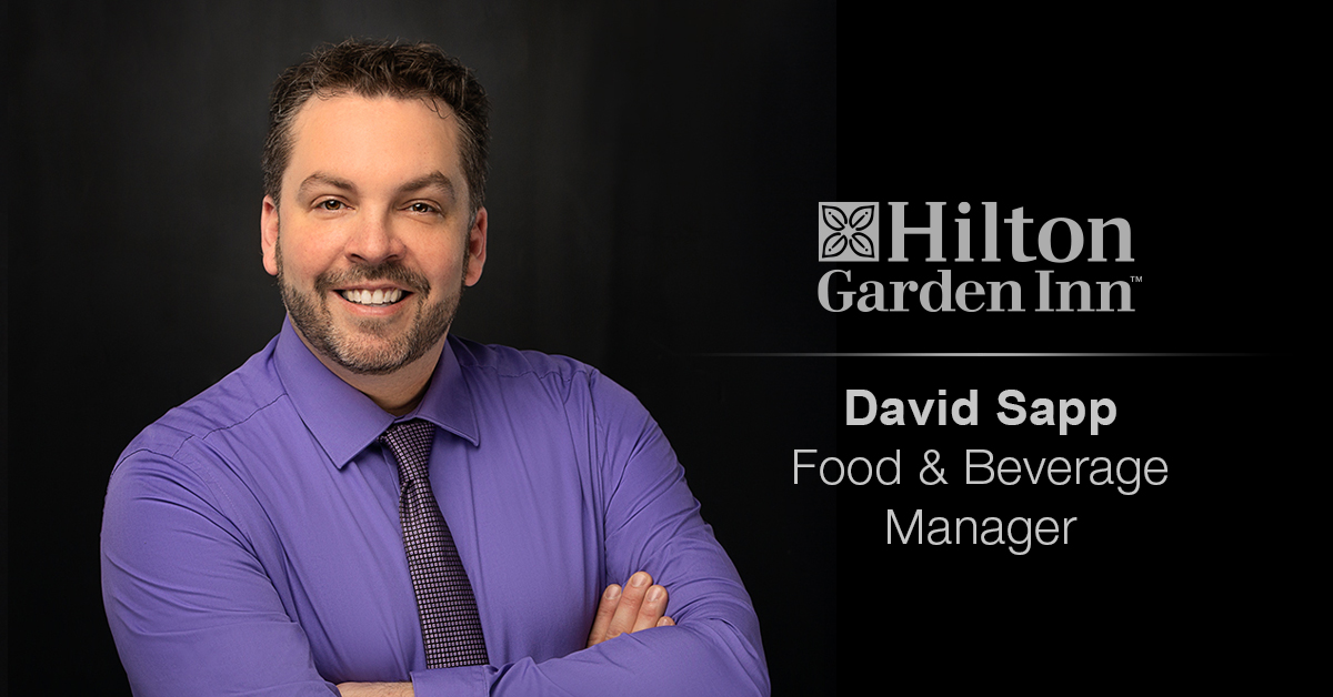 Ghidorzi Hotel Group Welcomes David Sapp as Food & Beverage Manager for Hilton Garden Inn Wausau
