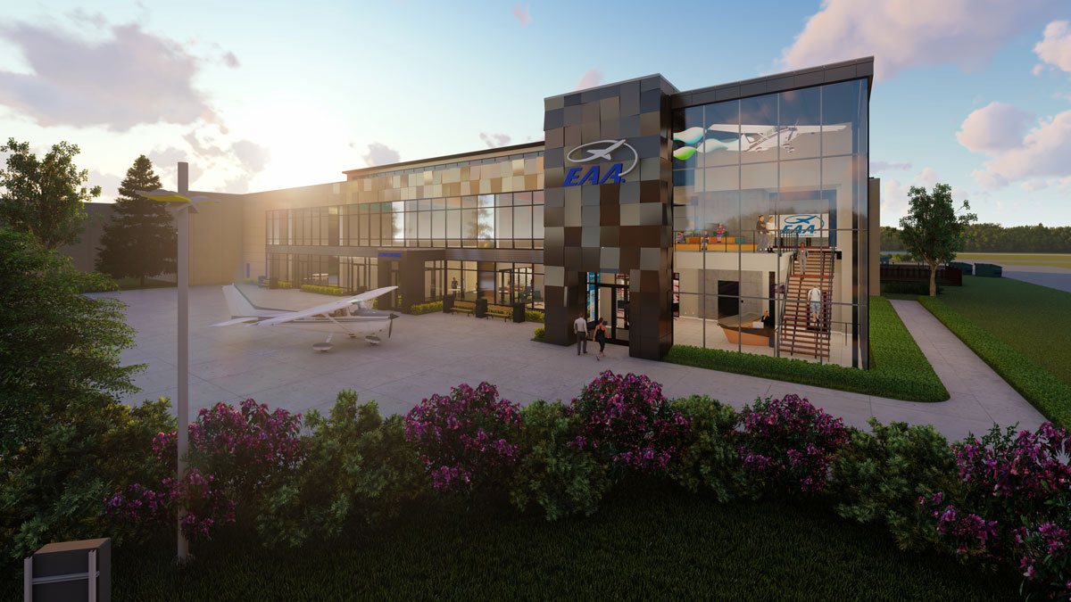 EAA Breaks Ground on 30,400 sq. ft. Museum Expansion with Ghidorzi serving as Architect, General Contractor and Interior Designer