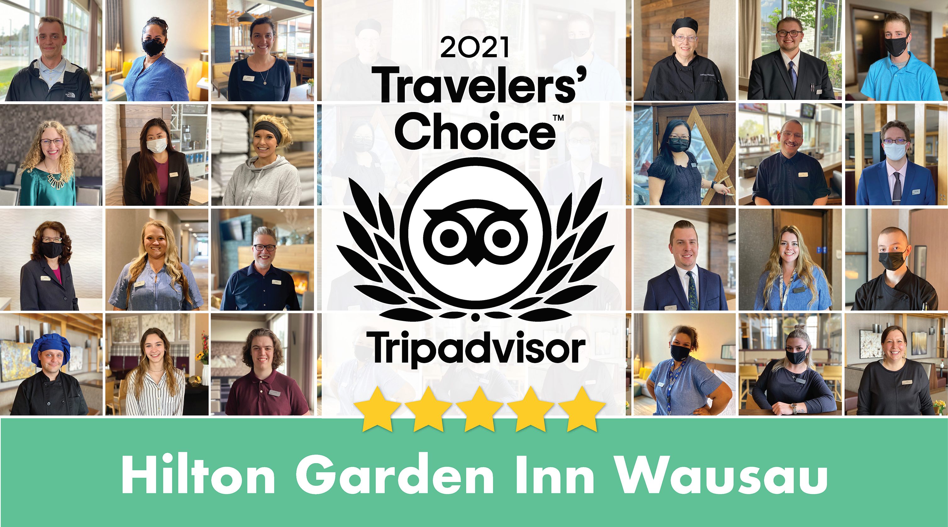 Hilton Garden Inn Wausau Receives Tripadvisor 2021 Travelers' Choice Hotel Award